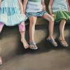 Hanging Out With the Girls, Pastel, 20x44   SOLD