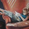 The Reader, Pastel, 22x30  SOLD