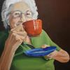 Morning Cuppa, Oil on Canvas, 36x36